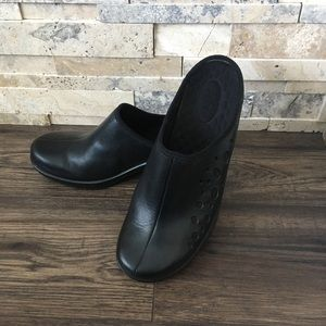 Privo Leather Upper Mules Size 9.5